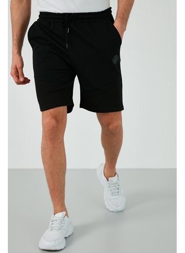 Buratti Buratti Pamuklu Belden Bağlamalı Slim Fit Short Erkek Short 568R164 Siyah